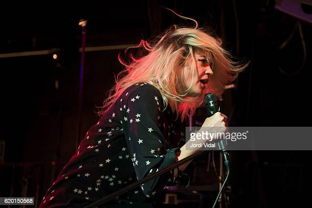 Alison Mosshart of The Kills performs on stage at Razzmatazz on November 1 2016 in Barcelona Spain