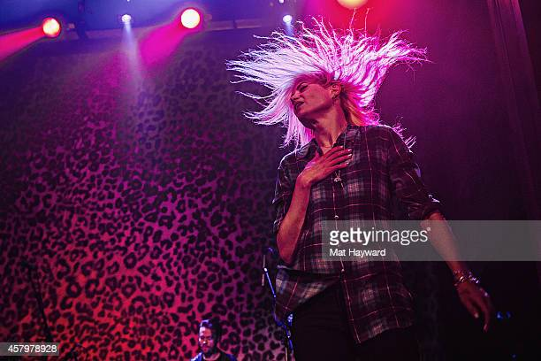 Alison Mosshart of The Kills performs on stage at the Neptune Theatre on October 27 2014 in Seattle Washington