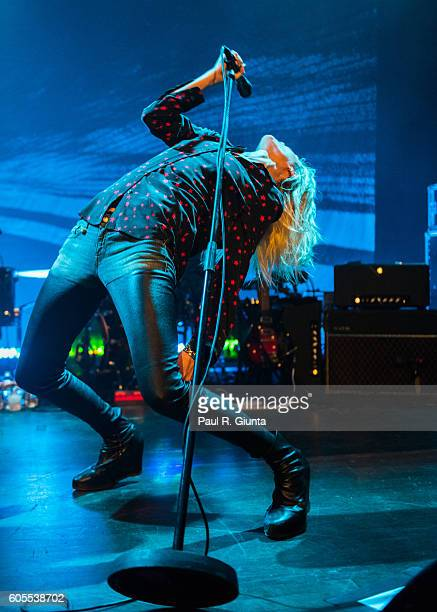 Alison Mosshart of the Kills performs onstage at Buckhead Theatre on September 13 2016 in Atlanta Georgia