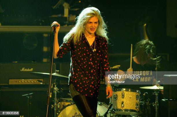 Alison Mosshart of The Kills performs onstage during SiriusXM's Private Show with Guns N' Roses at The Apollo Theater before band embarks on next leg...