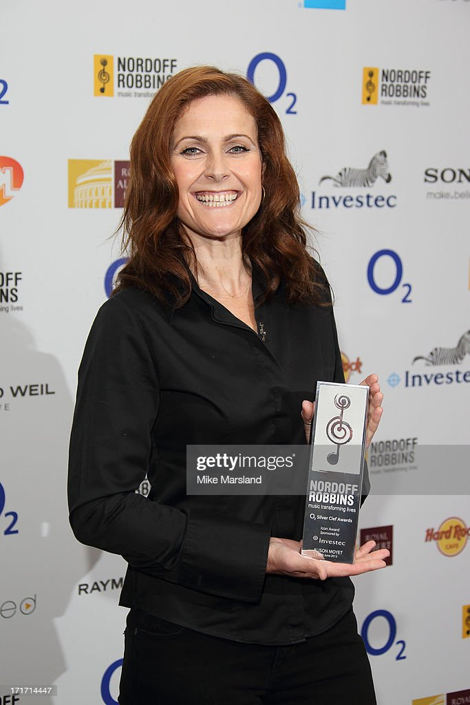 <a gi-track='captionPersonalityLinkClicked' href=/galleries/search?phrase=Alison+Moyet&family=editorial&specificpeople=704248 ng-click='$event.stopPropagation()'>Alison Moyet</a> attends the Nordoff Robbins Silver Clef Awards at London Hilton on June 28, 2013 in London, England.