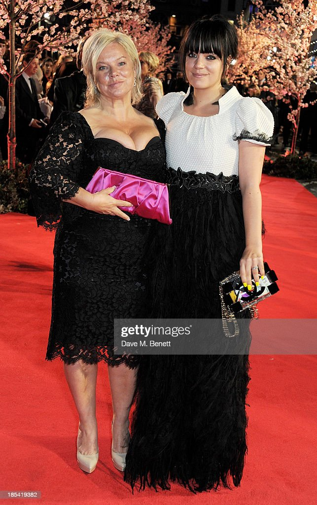 Alison Owen (L) and <a gi-track='captionPersonalityLinkClicked' href=/galleries/search?phrase=Lily+Allen&family=editorial&specificpeople=724899 ng-click='$event.stopPropagation()'>Lily Allen</a> attend the Closing Night Gala European Premiere of 'Saving Mr Banks' during the 57th BFI London Film Festival at Odeon Leicester Square on October 20, 2013 in London, England.