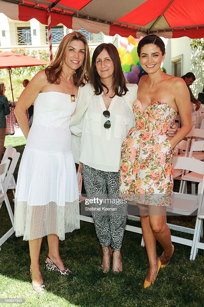 Alison Pertrocelli, Molly Isaacson and Cio Soler attend HEART/Stella McCartney Brunch on March 13, 2013 in Beverly Hills, California.