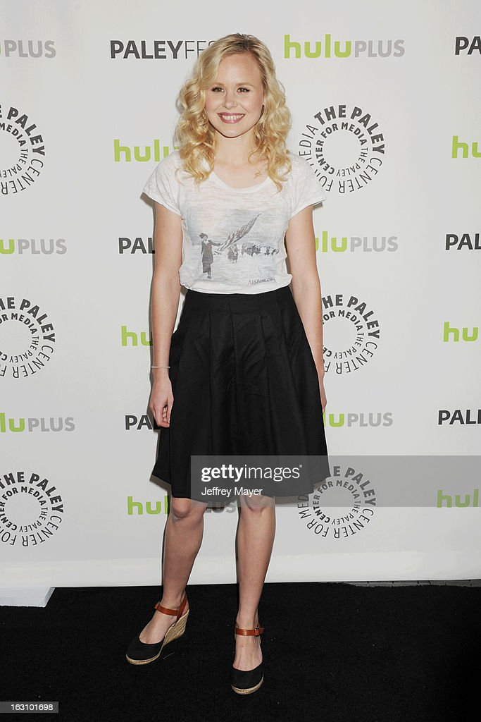 Alison Pill arrives at the 30th Annual PaleyFest: The William S. Paley Television Festival featuring 'The Newsroom' at Saban Theatre on March 3, 2013 in Beverly Hills, California.