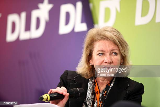Alison Smale executive editor of the International Herald Tribune speaks during the Digital Life Design conference at HVB Forum on January 24 2012 in...