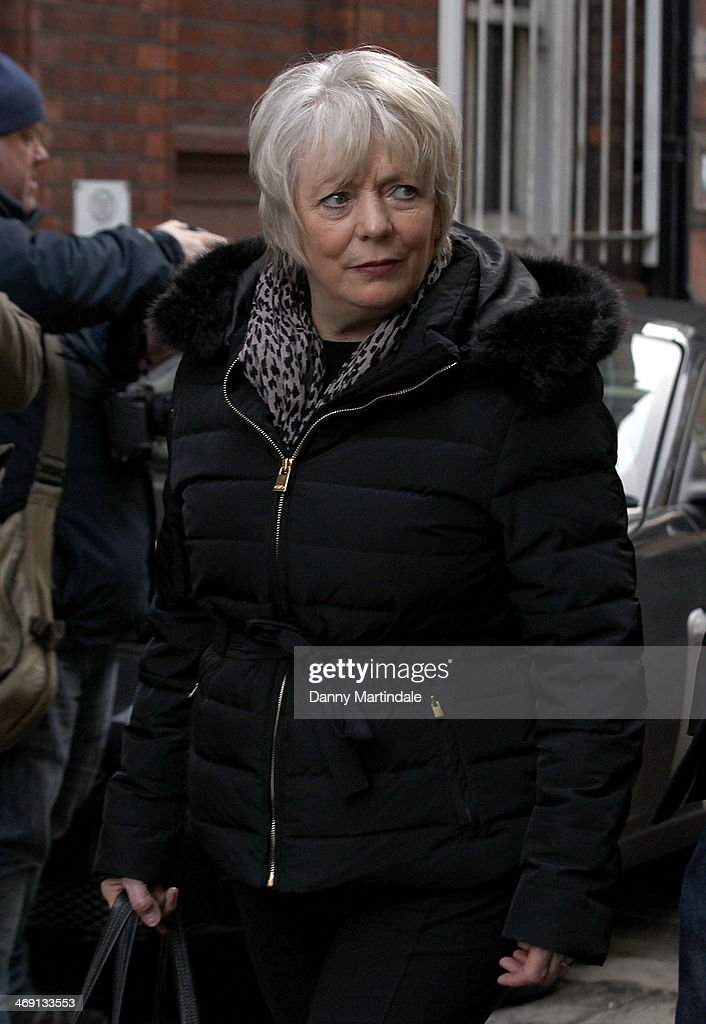Alison Steadman attends the funeral of actor Roger Lloyd-Pack at St Paul's Church on February 13, 2014 in London, England.