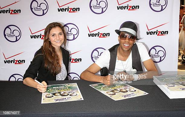 Alison Stoner and Matthew Finley promote 'Camp Rock 2 The Final Jam' at the Paramus Park Mall on July 24 2010 in Paramus New Jersey