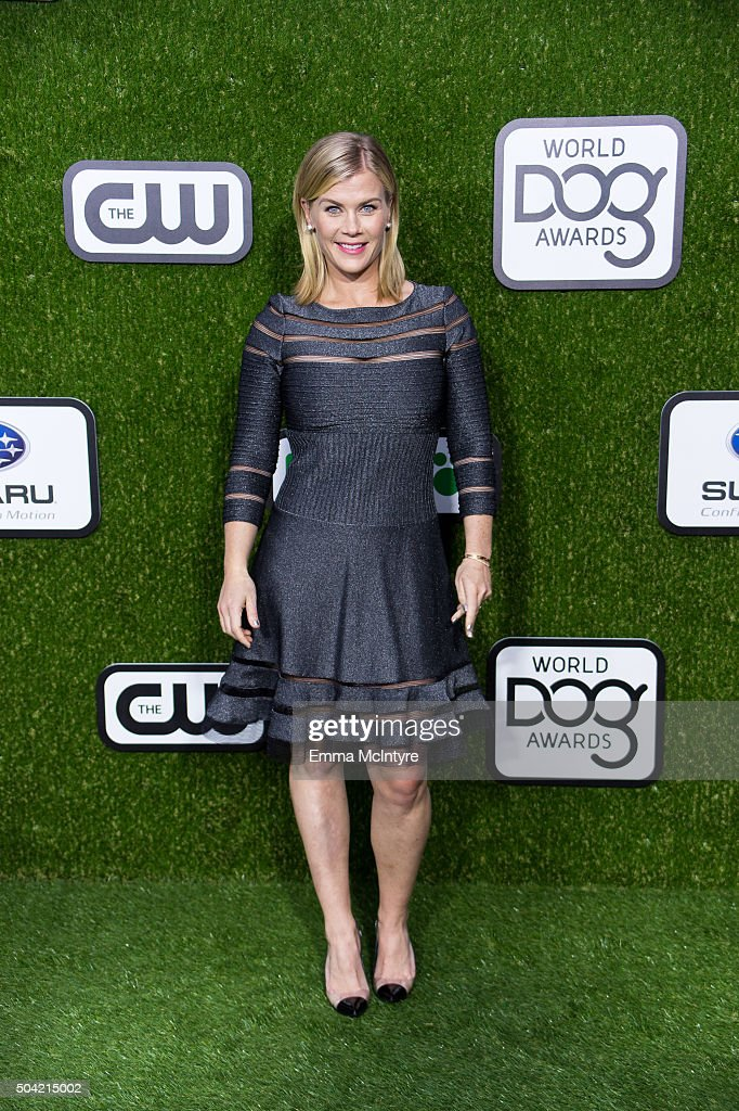<a gi-track='captionPersonalityLinkClicked' href=/galleries/search?phrase=Alison+Sweeney&family=editorial&specificpeople=217974 ng-click='$event.stopPropagation()'>Alison Sweeney</a> arrives at the 2016 World Dog Awards at Barker Hangar on January 9, 2016 in Santa Monica, California.