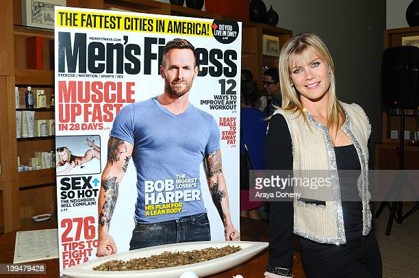 Alison Sweeney attends the Bob Harper star Of NBC's 'The Biggest Loser' Men's Fitness Magazine Cover Celebration at Santa Maria Novella on February...