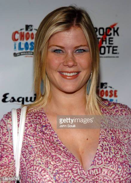 Alison Sweeney during Esquire House Hosts Young Hollywood 'Rock The Vote' Party Arrivals at The Esquire House Los Angeles in Beverly Hills California...