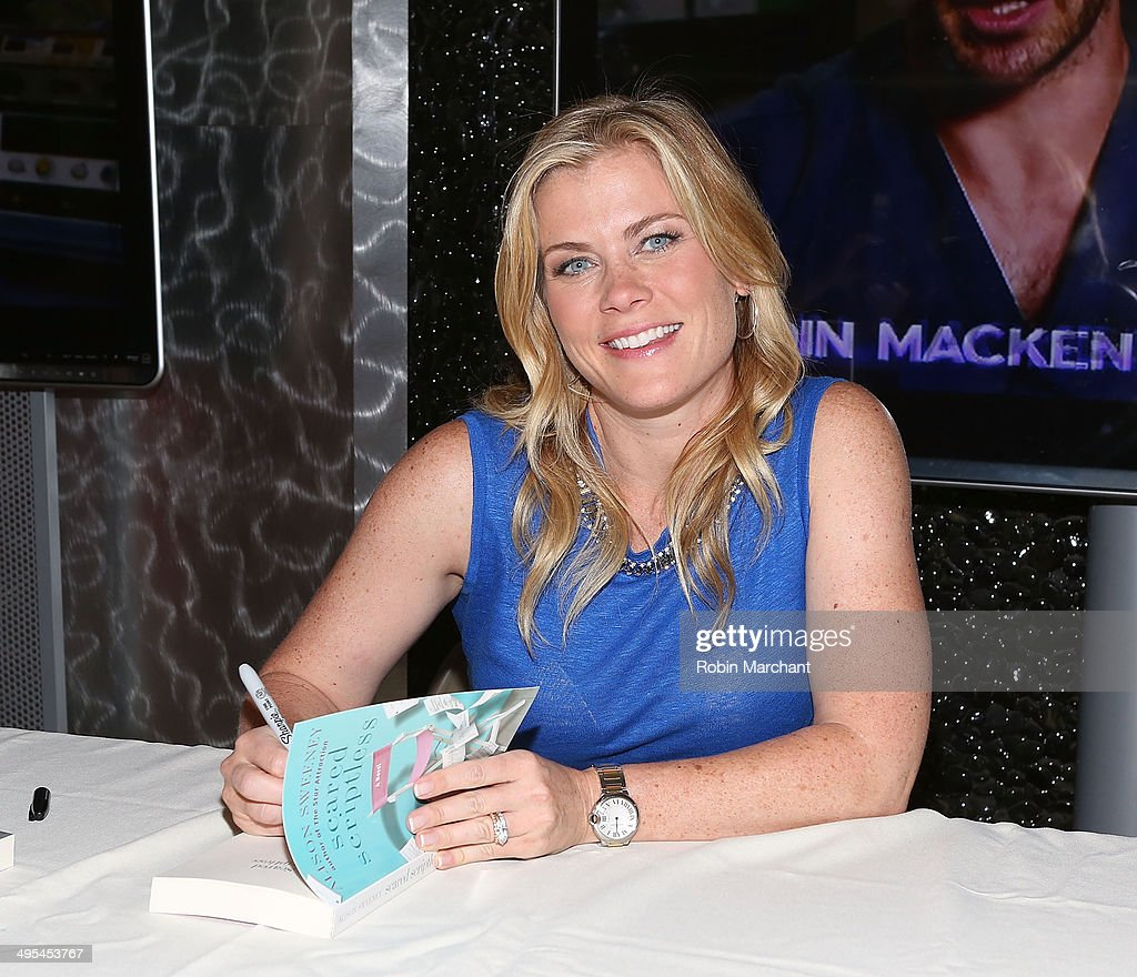 <a gi-track='captionPersonalityLinkClicked' href=/galleries/search?phrase=Alison+Sweeney&family=editorial&specificpeople=217974 ng-click='$event.stopPropagation()'>Alison Sweeney</a> Signs Copies Of Her Book 'Scared Scriptless' at NBC Experience Store on June 3, 2014 in New York City.