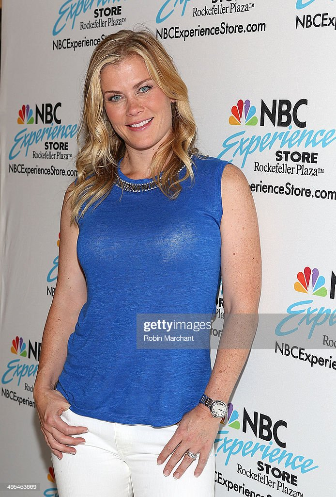 <a gi-track='captionPersonalityLinkClicked' href=/galleries/search?phrase=Alison+Sweeney&family=editorial&specificpeople=217974 ng-click='$event.stopPropagation()'>Alison Sweeney</a> Signs Copies Of Her Book 'Scared Scriptless' at the NBC Experience Store on June 3, 2014 in New York City.