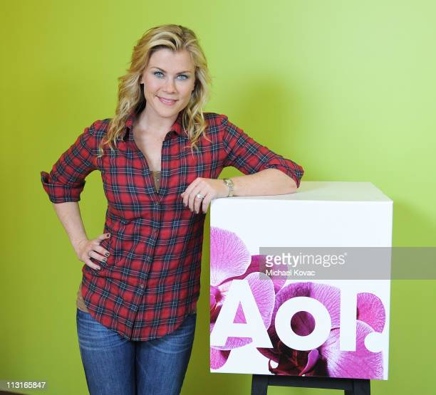 Alison Sweeney stops by AOL Studios in Beverly Hills on April 25 2011 in Beverly Hills California