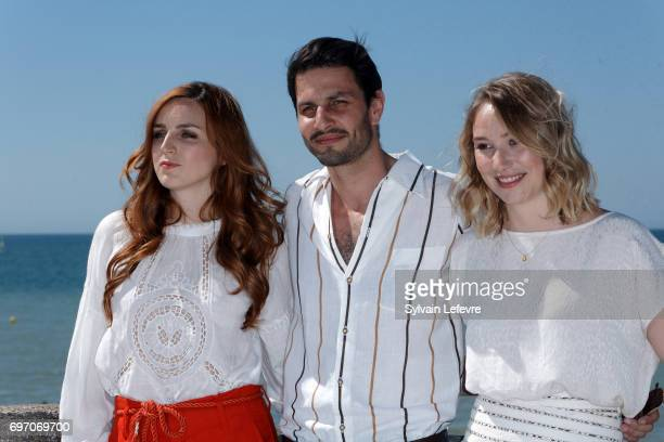 Alison Wheeler Marc Ruchmann Deborah Francois attends 'Louemoi' photocall during 4th day of 31st Cabourg Film Festival on June 17 2017 in Cabourg...