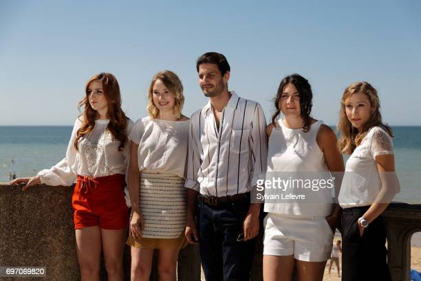 Alison Wheeler Marc Ruchmann Deborah Francois Coline Assous Virginie Schwartz attend 'Louemoi' photocall during 4th day of 31st Cabourg Film Festival...