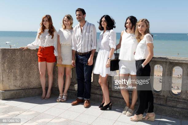 Alison Wheeler Marc Ruchmann Deborah Francois guest Coline AssousVirginie Schwartz attend 'Louemoi' photocall during 4th day of 31st Cabourg Film...