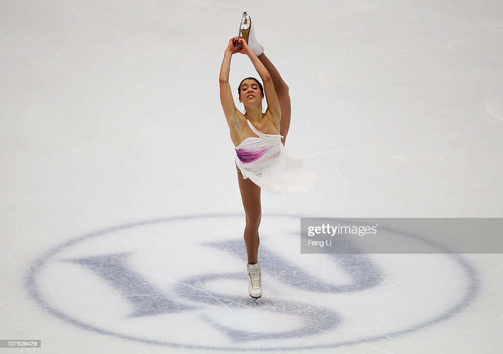 Alissa Czisny of USA skates in the Ladies Short Program during ISU Grand Prix and Junior Grand Prix Final at Beijing Capital Gymnasium on December 10, 2010 in Beijing, China.
