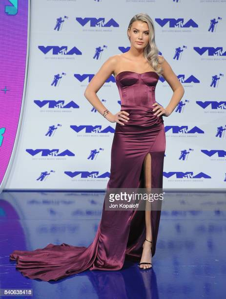 Alissa Violet arrives at the 2017 MTV Video Music Awards at The Forum on August 27 2017 in Inglewood California