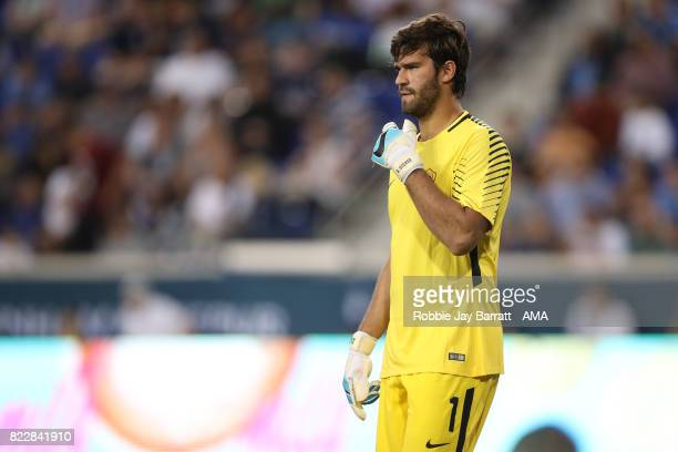Alisson Becker of AS Roma during the International Champions Cup 2017 match between Tottenham Hotspur and AS Roma at Red Bull Arena on July 25 2017...