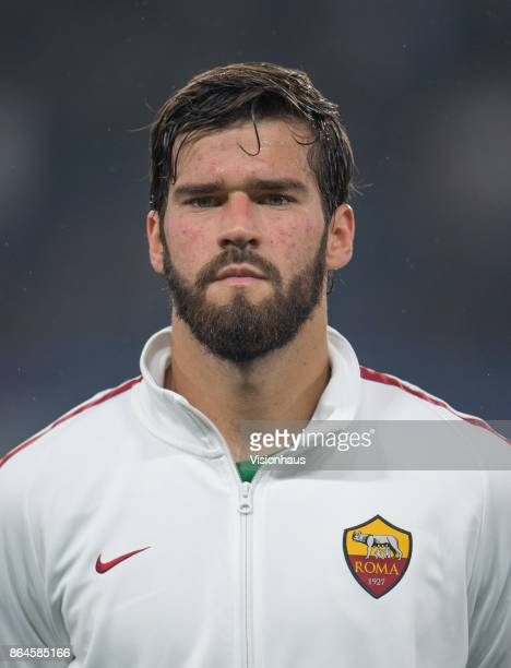 Alisson Becker of AS ROMA during the UEFA Champions League Group C match between Chelsea FC and AS Roma at Stamford Bridge on October 18 2017 in...