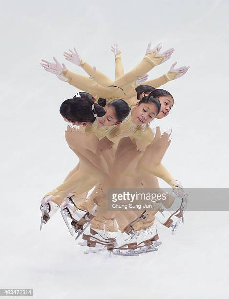 Alisson Krystle Perticheto of Philippines performs during the Ladies Free Skating on day four of the ISU Four Continents Figure Skating Championships...