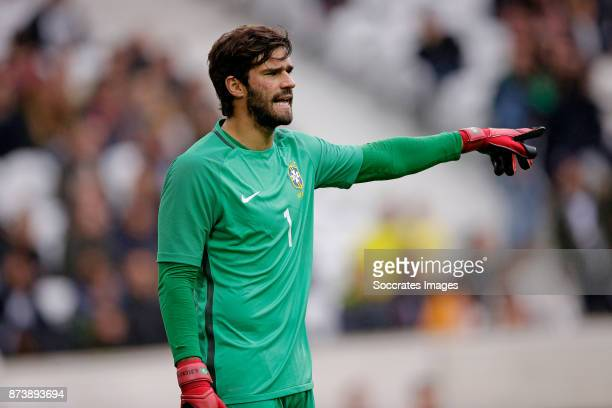 Alisson of Brazil during the International Friendly match between Japan v Brazil at the Stade Pierre Mauroy on November 10 2017 in Lille France