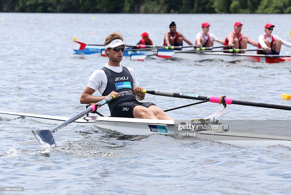 Karapiro New Zealand  City new picture : New Zealand competes in the over 16 single sculls during the Karapiro ...