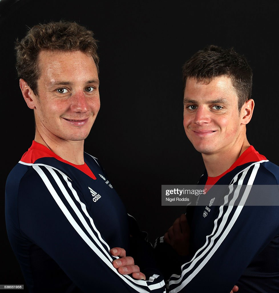 Alistair Brownlee and brother Jonathan Brownlee of Great Britain pose for a photo during the announcement of Triathlon Athletes Named in Team GB for...