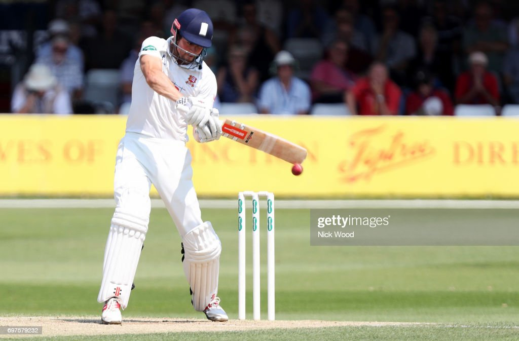 Alistair Cook in batting action during the Essex v Warwickshire - Specsavers County Championship: Division One cricket match at the Cloudfm County Ground on JUNE 19, 2017 in Chelmsford, England.