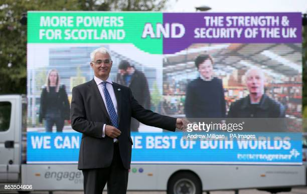 Alistair Darling during the launch of a new Better Together ad campaign in Edinburgh