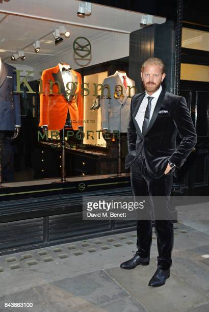 Alistair Guy attends the launch of the 'Kingsman' shop on St James's Street in partnership with MR PORTER MARV Twentieth Century Fox in celebration...