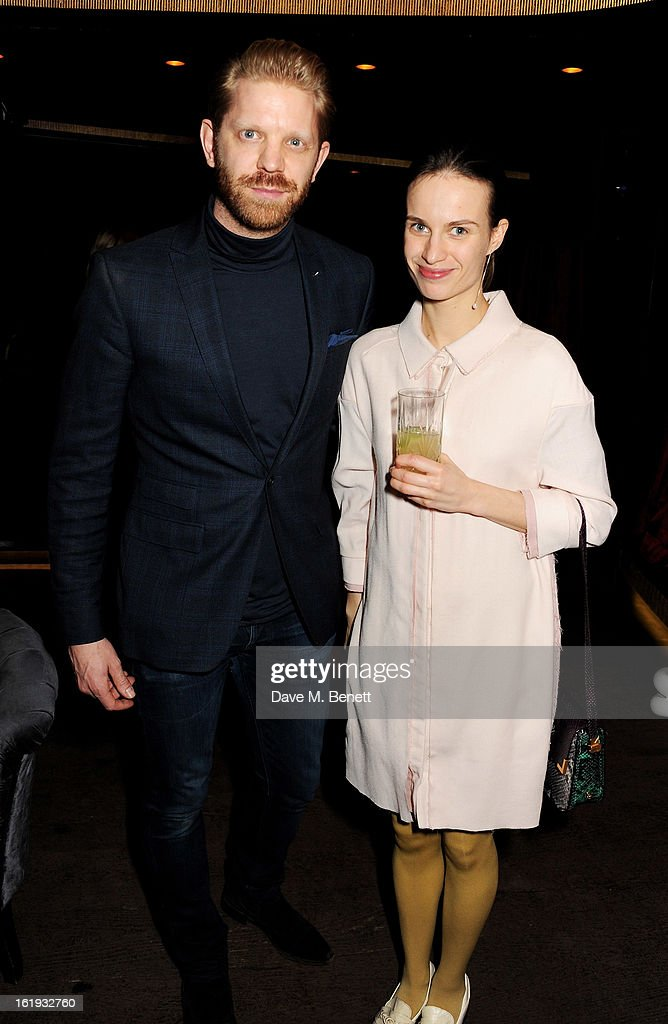 Alistair Guy (L) attends the Whistles Limited Edition Autumn/Winter 2013 Collection party at The Arts Club on February 17, 2013 in London, England.