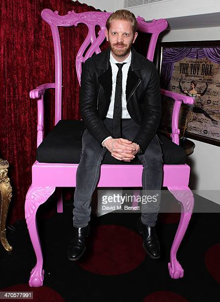 Alistair Guy is seen at Warner Belvedere Post BRIT Awards party at The Savoy Hotel on February 19 2014 in London England