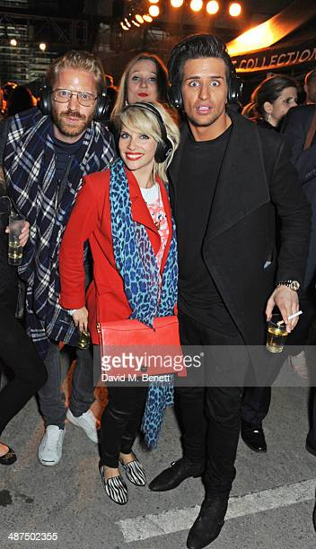 Alistair Guy Pips Taylor and Ollie Locke attend the Battersea Power Station Annual Party on April 30 2014 in London England