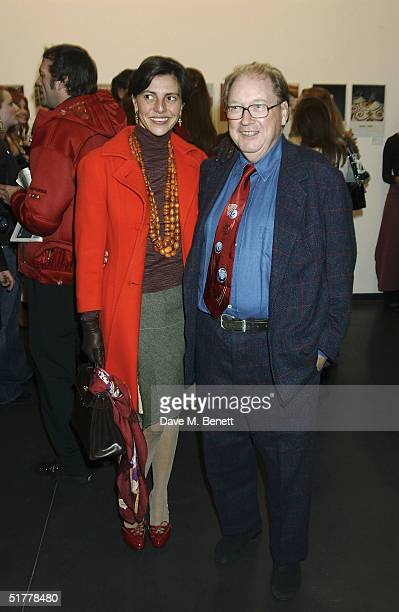 Alistair McAlpine and Athena Malpas attend the 'Famous Feet' private view and party featuring reportagestyle photos of Matthew Mellon's friends...
