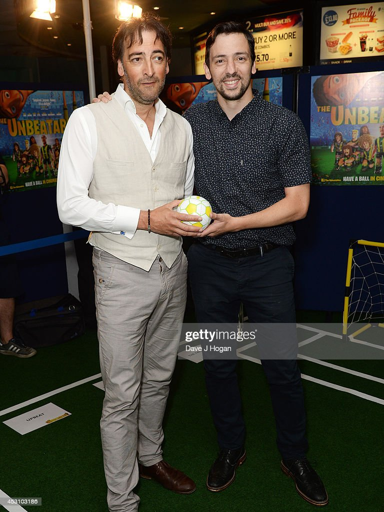 Alistair McGowan and Ralph Little attend the UK premiere of The Unbeatables on August 3 2014 in London England
