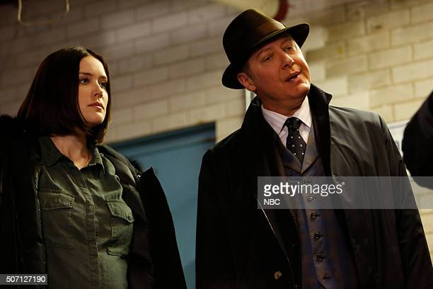 THE BLACKLIST 'Alistair Pitt' Episode 313 Pictured Megan Boone as Liz Keen James Spader as Red Reddington