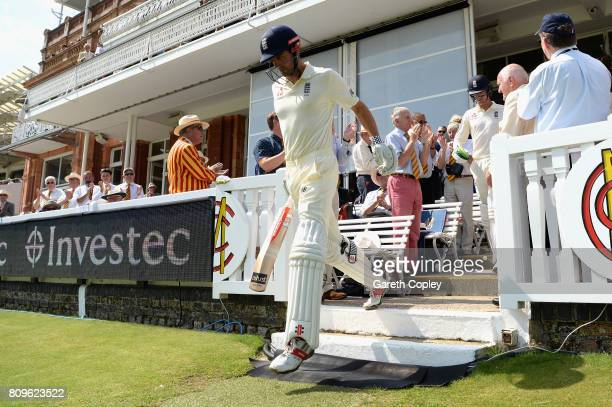 Alister Cook of England makes his way to the crease to open the batting during day one of the 1st Investec Test match between England and South...