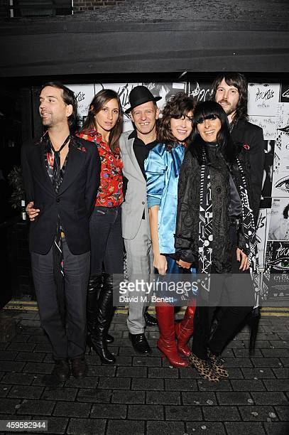 Alister Mackie Rosemary Ferguson Paul Simonon Jess Morris Serena Rees and Tim Rockins attend the launch of the Rockins For Eyeko collection at The...