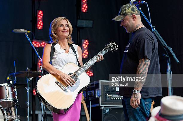 Alisyn Camerota and Aaron Lewis attend 'FOX Friends' All American Concert Series at FOX Studios on July 27 2012 in New York City