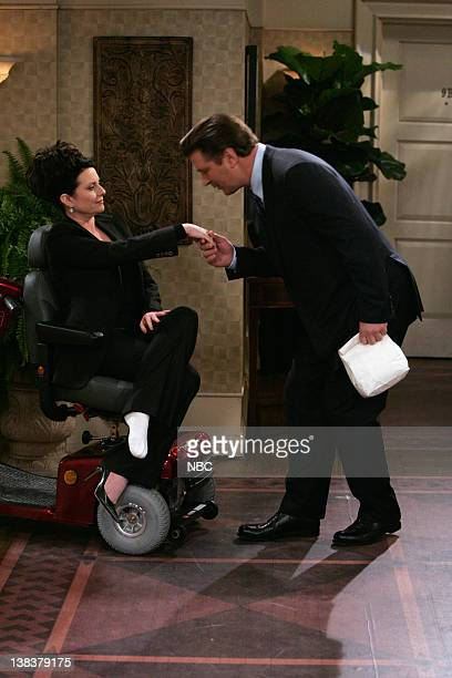 WILL GRACE 'Alive and Schticking' Episode 1 Pictured Megan Mullally as Karen Walker Alec Baldwin as Malcolm