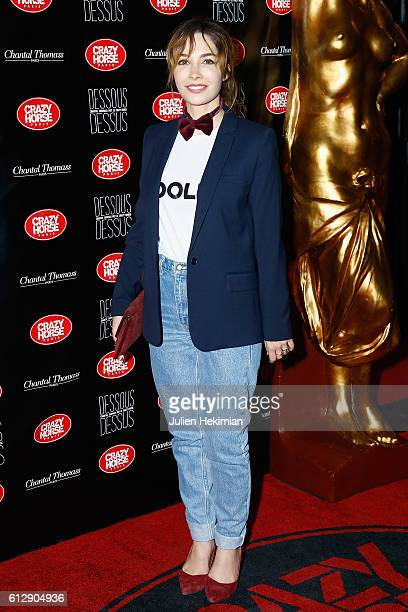Alix Benezech attends the Chantal Thomass' Show at Le Crazy Horse on October 5 2016 in Paris France