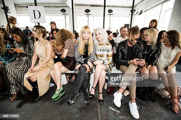 Alix Brown and Petra Collins on the front row at the Jill Stuart SS16 show part of New York Fashion week at Industria Studios on September 12 2015 in...