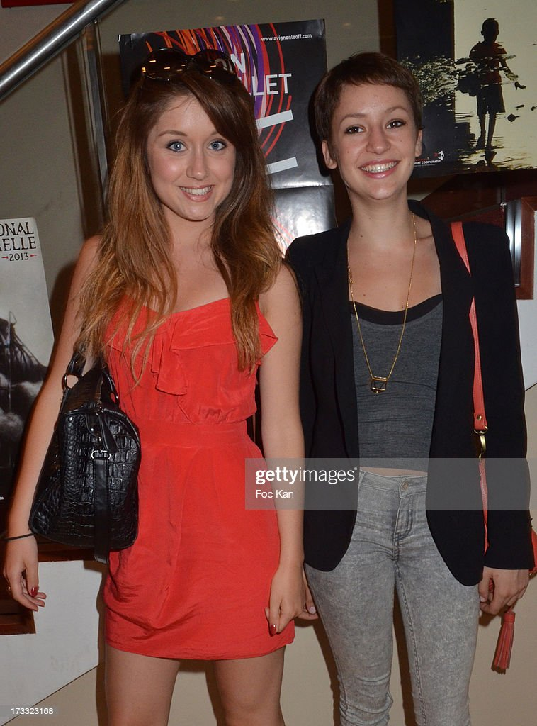 Alix Ligier de Laprade and actress Corinne Touzet's daughter Jeanne Touzet Sieja attend the 'Florides' : Margot Abascal's Short Movie Screening Cocktail at the SACD on July 11, 2013 in Paris, France.