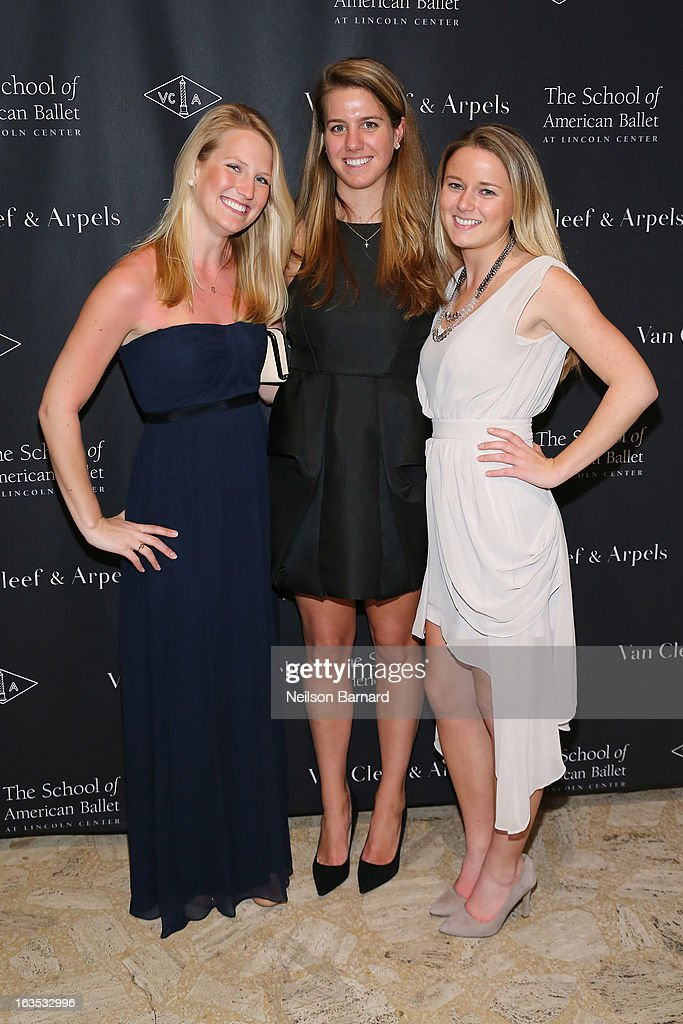 Alix Peabody, Mollie McGrath and Brooke Flohr attend the after party for the School of American Ballet 2013 Winter Ball at David H. Koch Theater, Lincoln Center on March 11, 2013 in New York City.