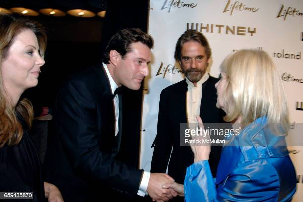 Alix Witlin Joshua Maurer Jeremy Irons and Barbara Haskell attend GEORGIA O'KEEFFE 'ABSTRACTION' Opening Reception and Dinner at The Whitney Museum...