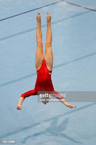 Aliya Mustafina of Russia competes in the Floor Exercise during the Womens AllRound Final on Day Five of the Artistic Gymnastics World Championships...