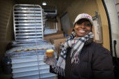 Aliyyah Baylor stands with her pastry truck ready for inspection from DC Health and Safety Inspectors on Saturday January 19 2013 When Aliyyah found...