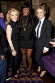 Aliza Reger Mica Paris and Karen Millen attend 'An Evening With Mitch Winehouse' in aid of the Amy Winehouse Foundation at The Hippodrome on April 18...