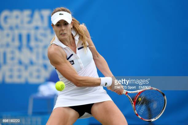 Alize Cornet during her match against Angelique Kerber